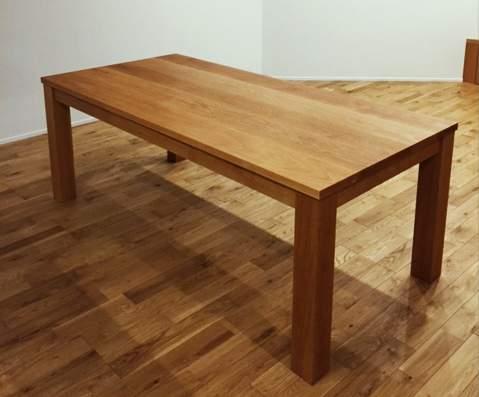 オーク材 ダイニングテーブルのセミオーダー